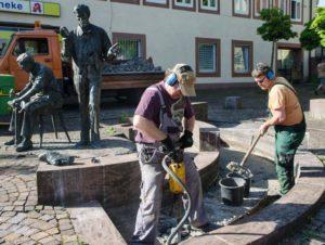 Der Schusterbrunnen wird saniert