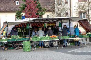 Auf dem Hauensteiner Wochenmarkt ist es einsam geworden