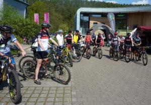 Mountainbiker auf Schnuppertour im MTB-Park Pfälzerwald