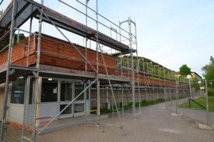Sanierungsarbeiten an der Wasgauhalle geben Anlaß zu deftigen Kommentare