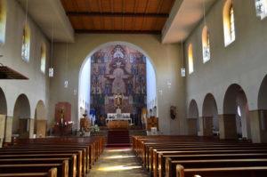 Die Innensanierung bei der  Christkönigskirche ist unumgänglich