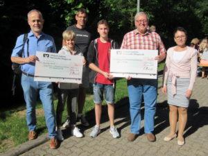 Kinder und Jugendlichen haben den  Betrag von 2.580 Euro erlaufen