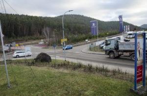 Kreisverkehr an der Ortseinfahrt Hauenstein