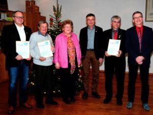 Mitgliederehrung beim MGV Hauenstein