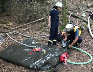 Feuerwehr erhielt neuen Gerätesatzes, der zur Wald- und Vegetationsbrandbekämpfung dient
