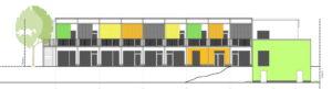 Neue Planung für die Kita auf dem Gelände der ehemaligen Süddeutschen Schuhfabrik