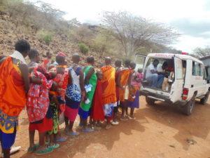 Medizinische Hilfe in unzugänglichen Dörfern der Maasai südlich von Nairobi