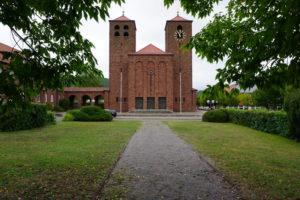 Gottesdienst zum Hungermarsch in diesem Corona-Jahr auf dem Vorplatz der Hauensteiner Christkönigskirche