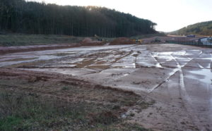 Vorarbeiten zum Bau eines Brief- und Paketverteilzentrum in Hauenstein haben begonnen
