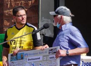 """Markus Koerdt, der """"Spenden-Speed"""" erlief 2.663 Euro für die Kinderheime"""