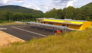 Das erste Gebäude im Interkommunalen Gewerbegebiet Wilgartswiesen / Hauenstein bald fertig