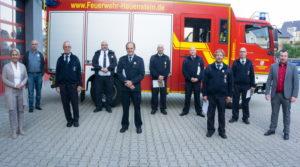 Ehrung langjähriger Wehrleute der Freiwilligen Feuerwehr Hauenstein